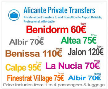 Alicante Airport (private) Transfers