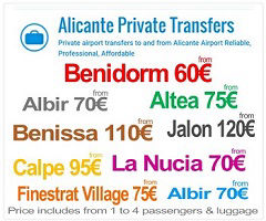 Alicante Private Transfers to Alfaz
