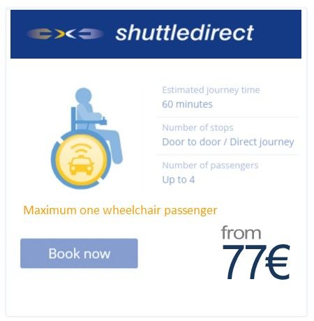 Wheelchair adapted transfers from shuttledirect