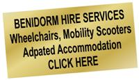 Mobility Hire Benidorm and Costa Blanca. Wheelchairs, Electric Wheelcahirs and Scooters plus disabled access adapted hotels and accommodation.